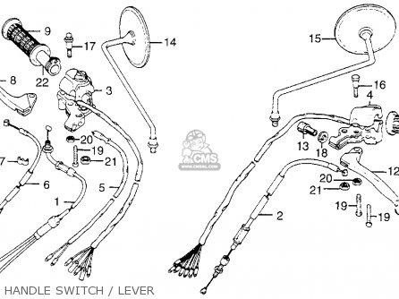 Honda Cb200t 1976 Usa Handle Switch   Lever