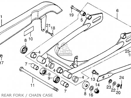 Honda Cb200t 1976 Usa Rear Fork   Chain Case
