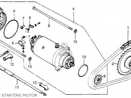 Honda Cb200t 1976 Usa Starting Motor