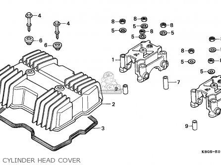 Honda Cb R Spain Cylinder Head Cover Mediumecbgns E Be