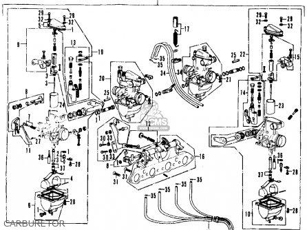 Honda Cb350f Four 1972 Usa Carburetor