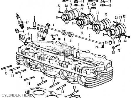 Honda Cb350f Four 1972 Usa Cylinder Head