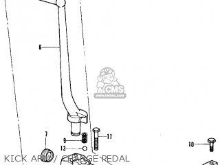 Honda Cb350f Four 1972 Usa Kick Arm   Change Pedal