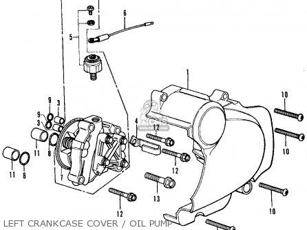 Honda Cb350f Four 1972 Usa Left Crankcase Cover   Oil Pump