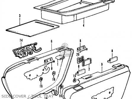 Honda Cb350f Four 1972 Usa Side Cover   Tool Tray