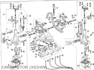 Honda Cb350f Four france Carburetor keihin