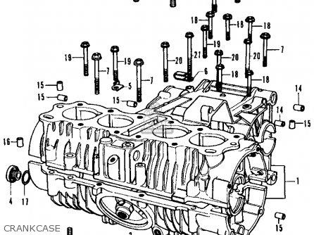 Honda Cb350f  Four 1972 u s a  Crankcase