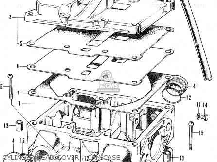 CYLINDER HEAD COVER - CAM CASE - CB350K4 SUPER SPORT 1972 USA