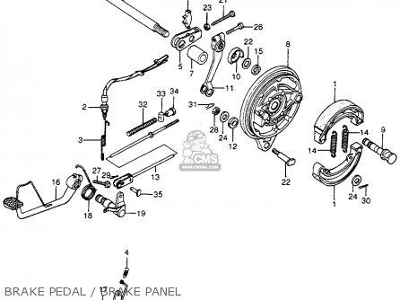 Honda Cb400f 1976 Usa Brake Pedal   Brake Panel