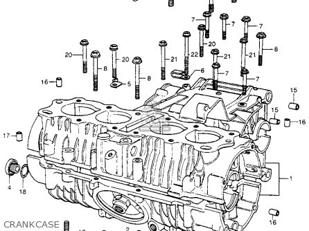 Honda Cb400f 1976 usa Crankcase
