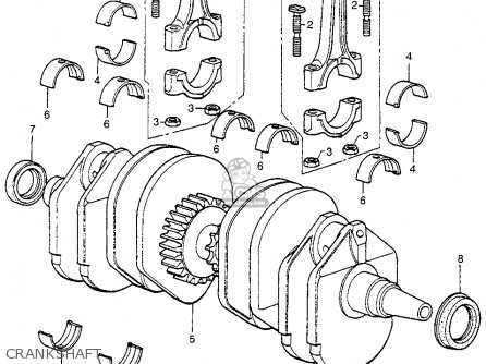 Honda Cb400f 1976 Usa Crankshaft
