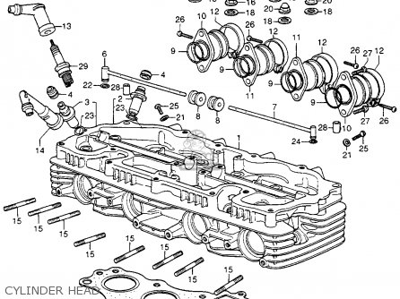 Honda Cb400f 1976 usa Cylinder Head