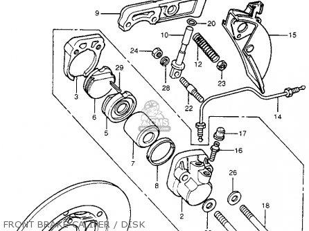 Honda Cb400f 1976 usa Front Brake Caliper   Disk