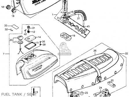 Honda Cb400f 1976 usa Fuel Tank   Seat