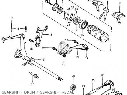 Honda Cb400f 1976 Usa Gearshift Drum   Gearshift Pedal