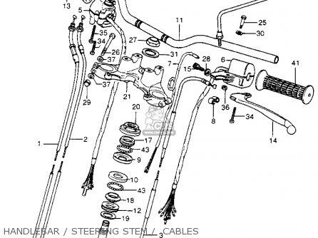 Honda Cb400f 1976 usa Handlebar   Steering Stem    Cables