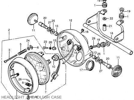 Honda Cb400f 1976 Usa Headlight   Headligh Case