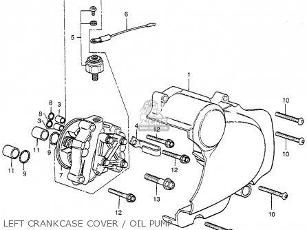Honda Cb400f 1976 Usa Left Crankcase Cover   Oil Pump