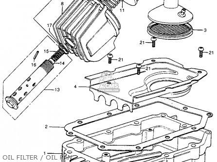 Honda Cb400f 1976 Usa Oil Filter   Oil Pan
