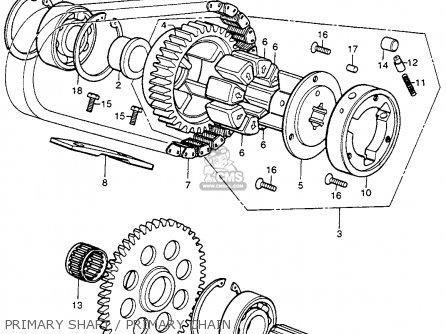 Honda Cb400f 1976 Usa Primary Shaft   Primary Chain