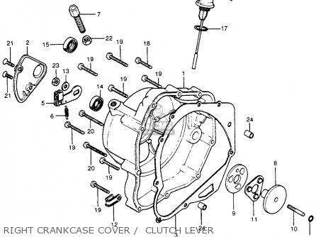 Honda Cb400f 1976 Usa Right Crankcase Cover    Clutch Lever