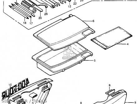 Honda Cb400f 1976 Usa Side Cover   Tools