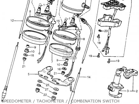 Honda Cb400f 1976 Usa Speedometer   Tachometer    Combination Switch