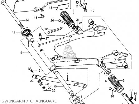 Honda Cb400f 1976 Usa Swingarm   Chainguard