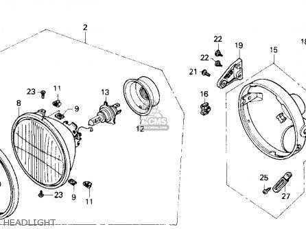 honda cb400f 1990  l  usa parts list partsmanual partsfiche