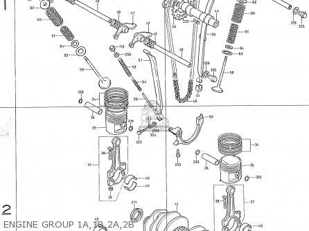Honda Cb400f france Engine Group 1a 1b 2a 2b