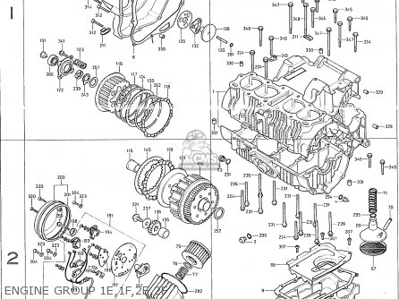 Honda Cb400f France Engine Group 1e 1f 2e 2f