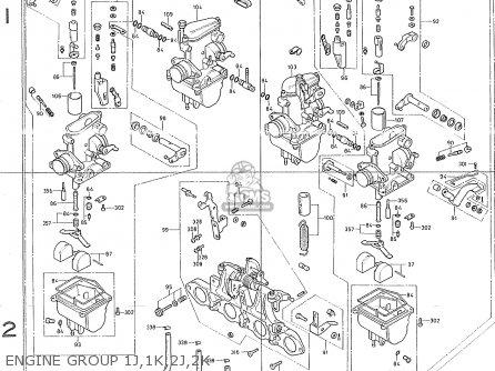 Honda Cb400f France Engine Group 1j 1k 2j 2k