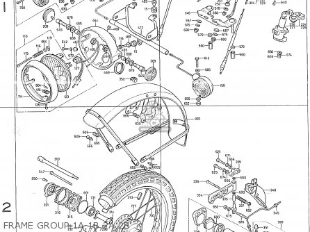 Honda Cb400f France Frame Group 1a 1b 2a 2b