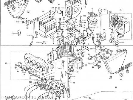 Honda Cb400f France Frame Group 1g 1h 2g 2h