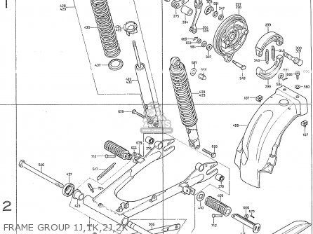 Honda Cb400f France Frame Group 1j 1k 2j 2k