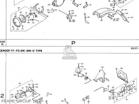 Honda Cb400f France Frame Group 1p 2p