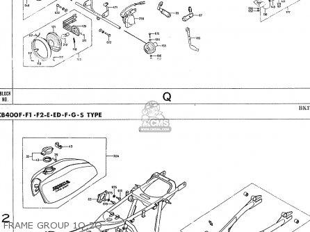 Honda Cb400f France Frame Group 1q 2q