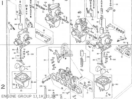 Honda Cb400f1 canada Engine Group 1j 1k 2j 2k