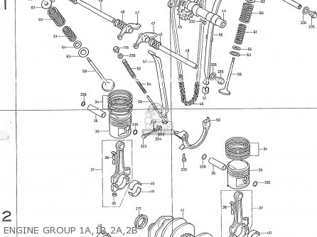 Honda Cb400f2 sweden Engine Group 1a 1b 2a 2b
