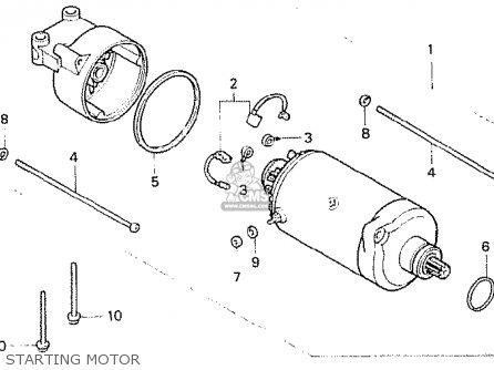 Honda Cb N Superdream B England Starting Motor Mediumma E F on Honda Gx630 Parts Diagram