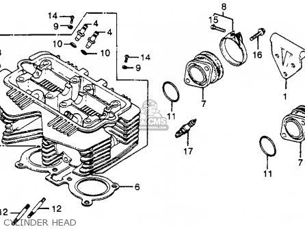 honda cb400t hawk 1980 a usa parts lists and schematics cylinder head