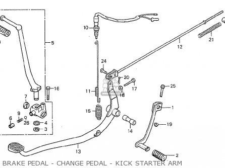 Honda Cb400t-i 1978 canada Brake Pedal - Change Pedal - Kick Starter Arm