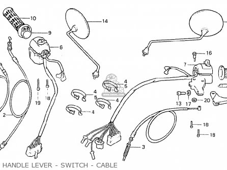 Honda Cb400t-i 1978 canada Handle Lever - Switch - Cable