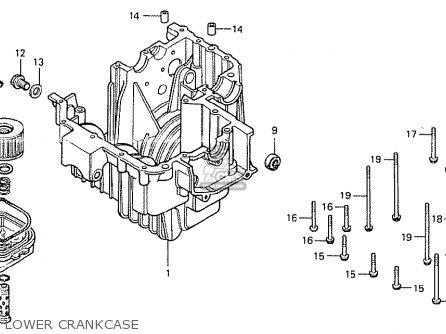 Honda Cb400t-i 1978 canada Lower Crankcase