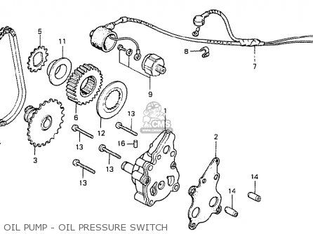 Honda Cb400t-i 1978 canada Oil Pump - Oil Pressure Switch