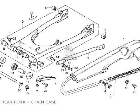 Honda Cb400t-i 1978 canada Rear Fork - Chain Case