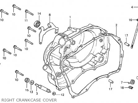 Honda Cb400t-i 1978 canada Right Crankcase Cover