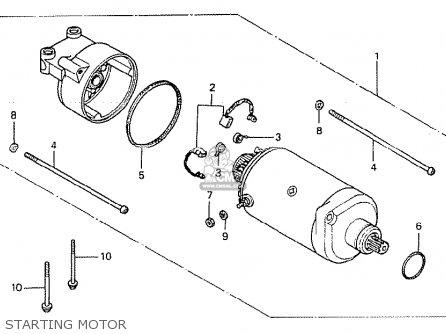 Honda Cb400t-i 1978 canada Starting Motor