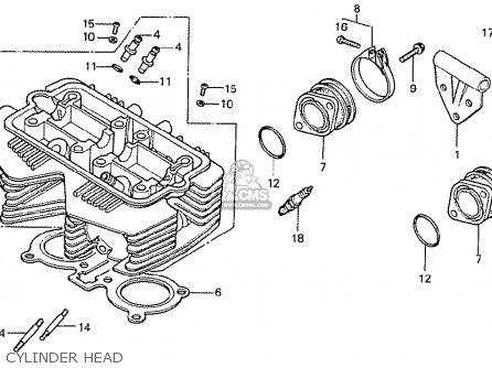 Honda Cb400ti 1978 Canada Cylinder Head