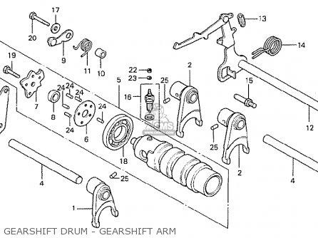 Honda Cb400ti 1978 Canada Gearshift Drum - Gearshift Arm